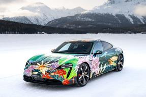 Porsche Taycan Charity Artcar